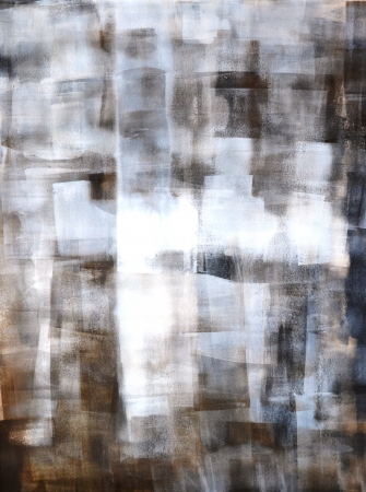 Brown and White Abstract Art Painting Archivio Fotografico