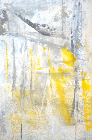 Grey and Yellow Abstract Art Painting photo