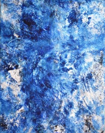 arte abstracto: Azul y blanco del arte abstracto