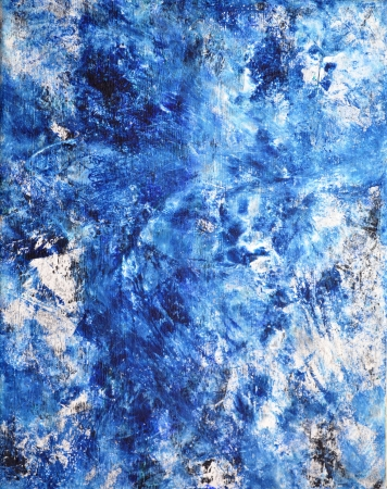 Blue and White Abstract Art Painting