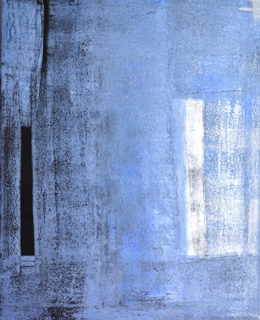 Blue and Black Abstract Art Painting Archivio Fotografico