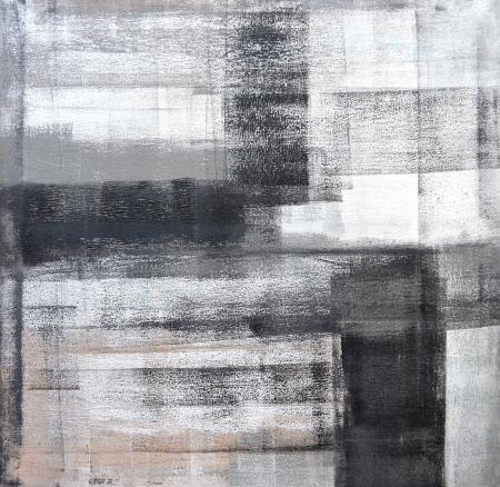 Grijs en Beige Abstracte kunst Schilderkunst Stockfoto