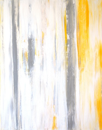 Grey and Yellow Abstract Art Painting Stock fotó