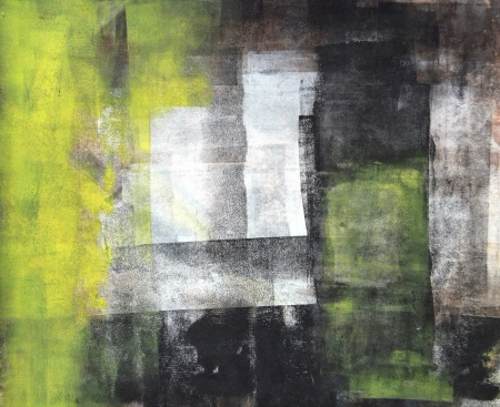 abstract paintings: Black and Yellow Abstract Art Painting