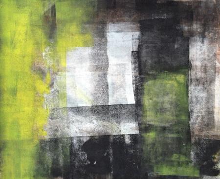 Black and Yellow Abstracte kunst Schilderkunst