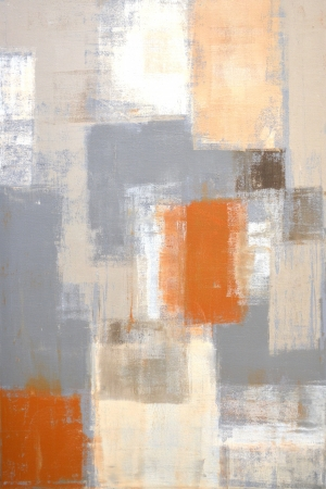 Grey and Beige Abstract Art Painting Archivio Fotografico