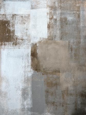 Bruin en grijs Abstracte kunst Schilderkunst