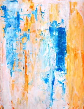 ティールとオレンジ抽象芸術絵画 写真素材