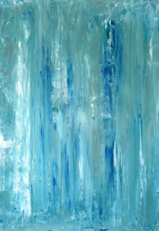 Teal and Blue Abstract Art Painting