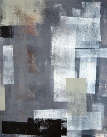 Grijze en Groene Abstracte Schilderen van de Kunst