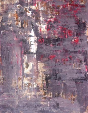 紫とベージュの抽象芸術絵画