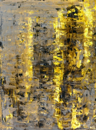 Brown and Yellow Abstract Art Painting