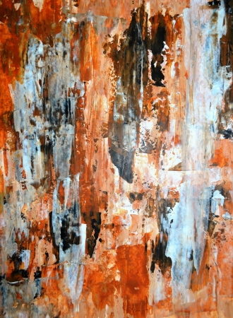Black and Tan Abstract Art Painting