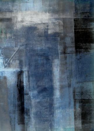 Blue and Grey Abstract Art Panting