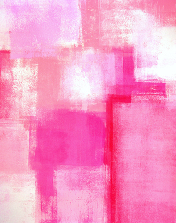 painting art: Pink Abstract Art Painting
