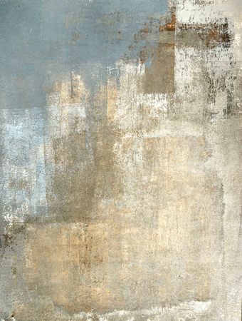 Grey and Beige Abstract Art Painting Banque d'images