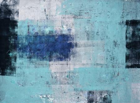 arte moderno: Azul y gris del arte abstracto Pintura Foto de archivo