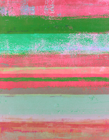 Pink and Green Abstract Art Painting Stock fotó
