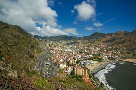 View of Camacha, Madeira Stock Photo