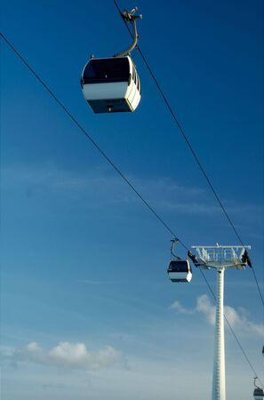 Parque das Na��es cable car at Lisbon, Portugal