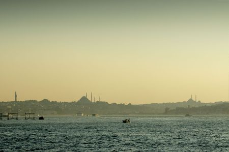 Istanbul seen from the Bosphorus Stock Photo