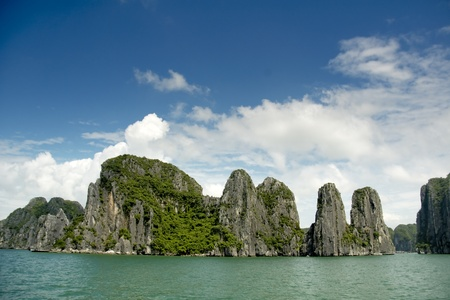 Rock formations at Ha Long photo