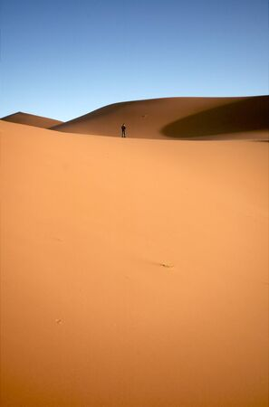 People at the dunes of the Moroccan Sahara Stock Photo - 8622650