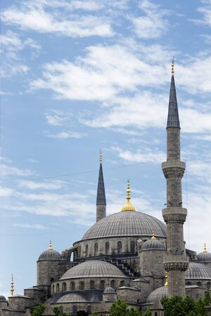 Dome and minarets of Blue Mosque photo