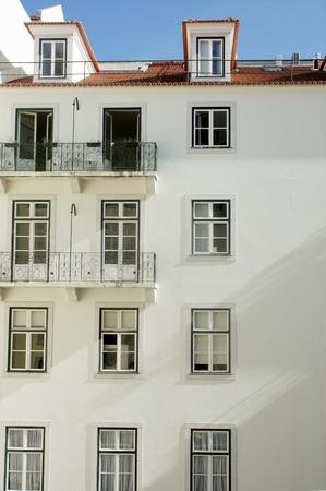 white building at Chiado quarter at Lisbon