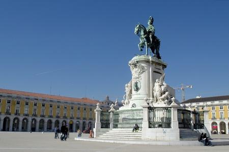 Statue of King José I at Lisbons Terreiro do Paço photo