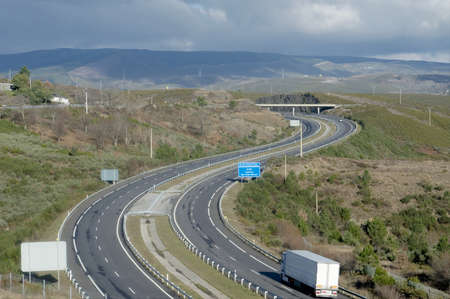 Highway at northern Spain photo