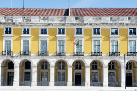 Facade of the building at Lisbons Terreiro do Paço