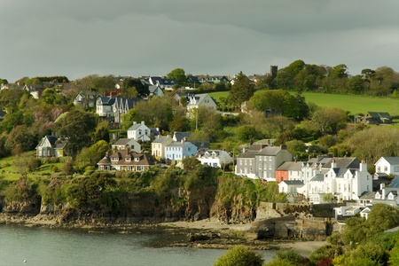 View of seaside houses at Killarney, Ireland Stock Photo