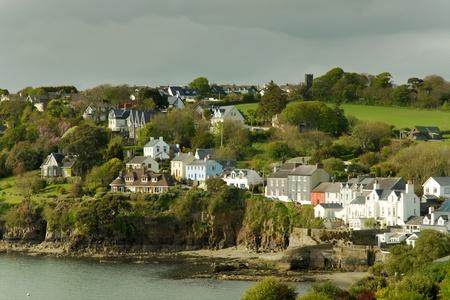 ireland: View of seaside houses at Killarney, Ireland Stock Photo