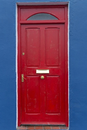 Door of country house at Western Ireland photo