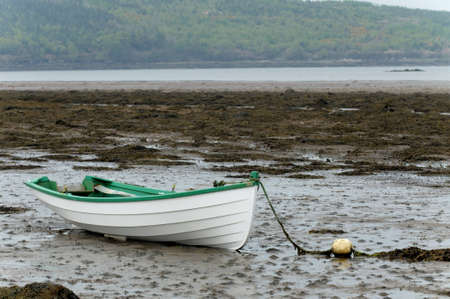 Empty rowboat at Western Ireland