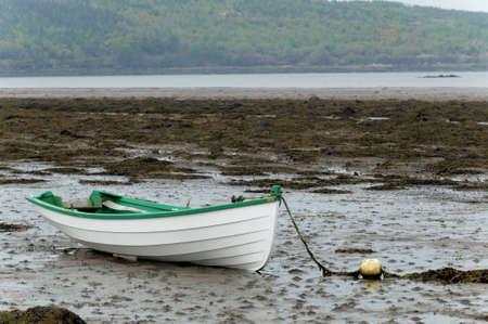 Empty rowboat at Western Ireland