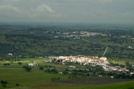 View of Alentejo village outside Monsaraz