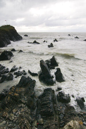 Rocky beach at Hartland Quay