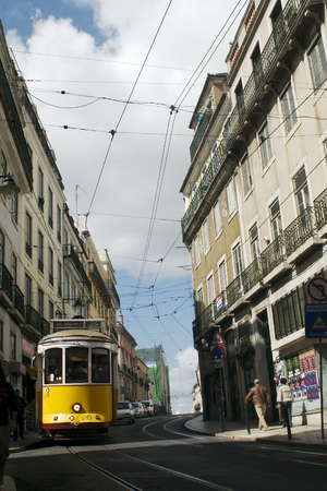 chiado: Tram passing by at Chiado, Lisbon