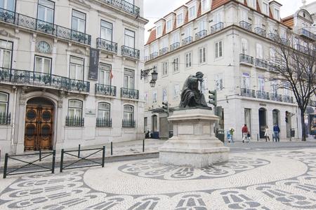 Chiado square and statue