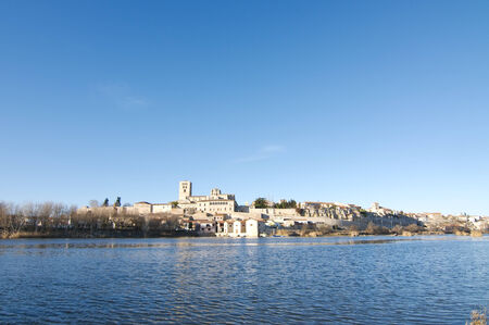 View of the city of Zamora and Douro river  Stock Photo