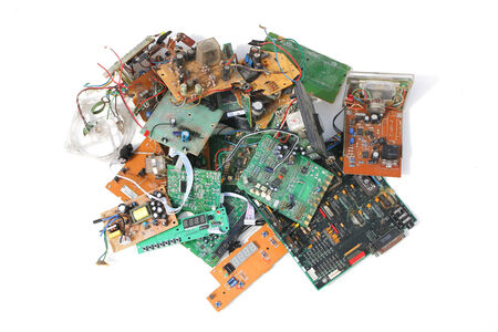 e waste: A pile of electronic waste