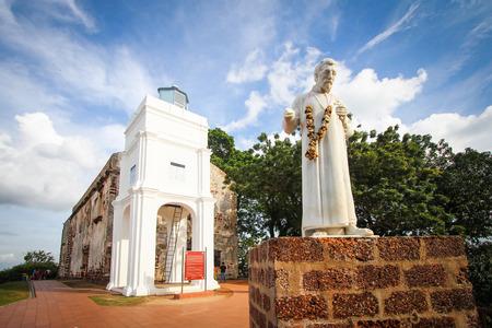 말라 카, 말레이시아의 세인트 폴 교회 폐허