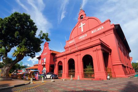 말레이시아 말라 카의 그리스도 교회 스톡 콘텐츠