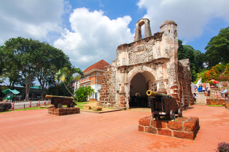 Ruïnes van een Formosa forst in Melaka, Maleisië