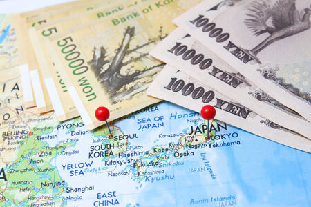 yen note: South korean won vs Japanese Yen