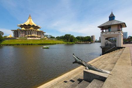 Kuching city riverside, Sarawak, Malaysia