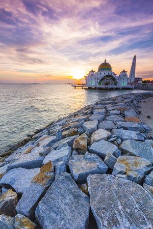 Masjid Selat Mosque in Melaka, Malaysia Stock Photo - 34374328