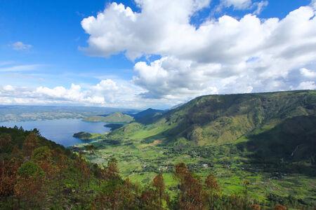 풍경 호수 토바, 인도네시아